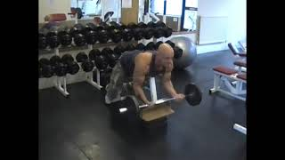 Barbell Prone Incline Curl
