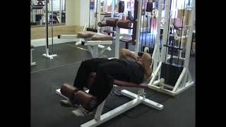 Cable Decline Bench Crunch