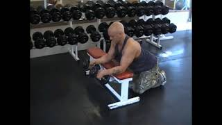 Dumbell Bench Neutral Wrist Curl