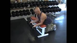 Dumbell Bench Wrist Curl