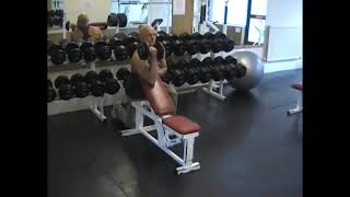 Dumbell Incline Preaacher Curl