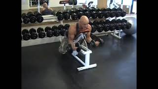 Dumbell Prone Incline Curll