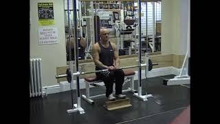 Smith Machine Seated Calf Raise