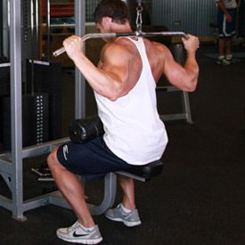 Behind Neck Lat Pull Down