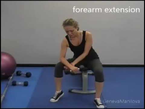 Forearm Extension ⁄ Reverse Forearm Dumbbell Curl
