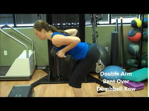Çift Kol Eğilerek Dambıl Çekiş ⁄ Double Arm Bent Over Dumbbell Row ~ bodytr com