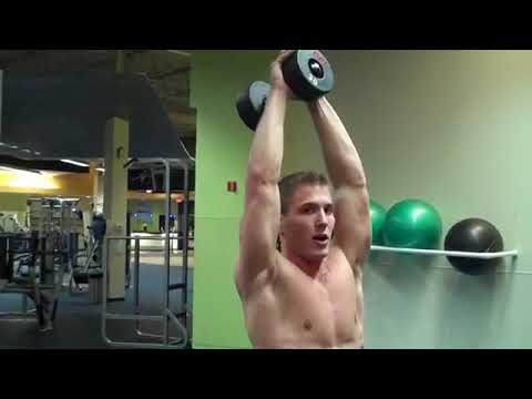 Standing Overhead Dumbbell Tricep Extension
