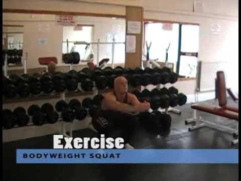 Yarım Çömelme ağırlıksız ~ Bodyweight Half Squats