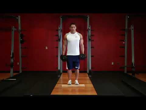 Ayakta Dambılla Parmak Ucunda Yükselme ⁄ Standing Dumbbell Calf Raises Exercise ~ bodytr com