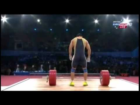 Lu Xiaojun World Record 176kg Snatch