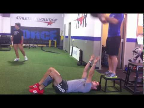Supine Medball Reactive Throws
